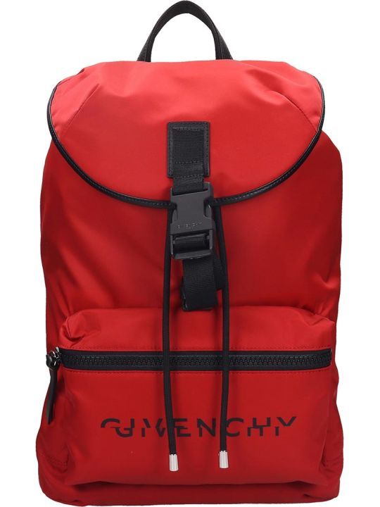Givenchy Light 3 Backpack In Red Nylon