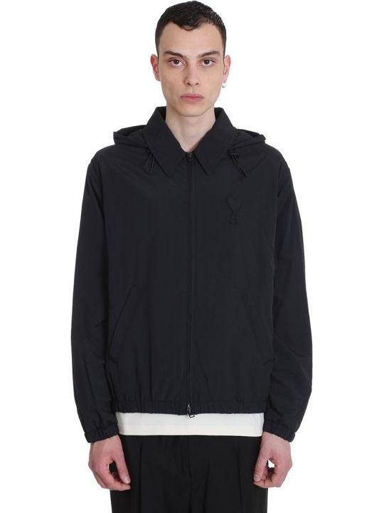 Ami Alexandre Mattiussi Casual Jacket In Black Nylon