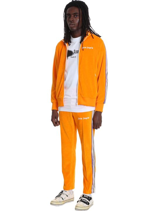 Palm Angels Pants In Orange Cotton