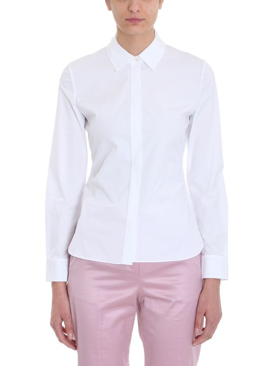 Theory White Cotton Shirt