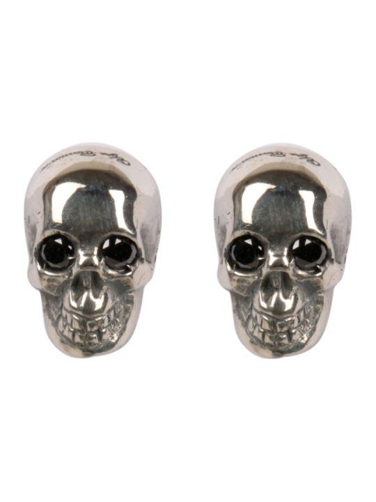 Ugo Cacciatori Skull Silver Earrings