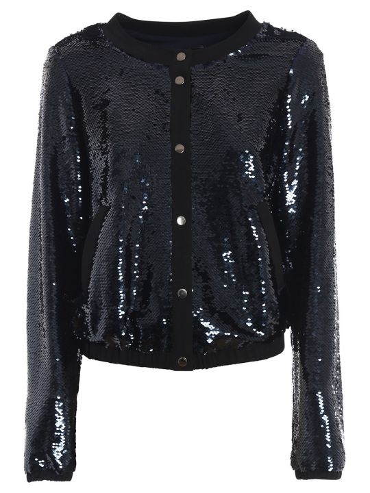 Emporio Armani Sequin Embroidered Jacket