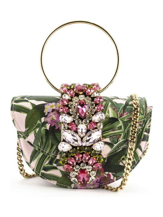 Gedebe Brigitte Floralia Halfmoon Mini Clutch