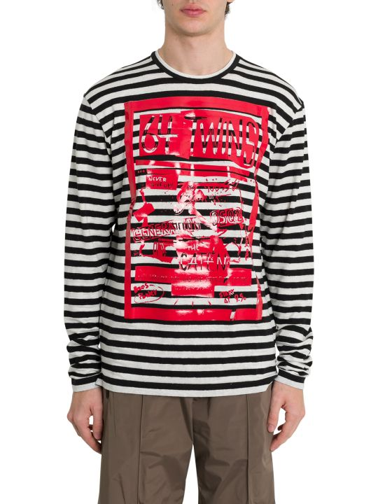 Dsquared2 64 Twins Striped Long Sleeve Tee