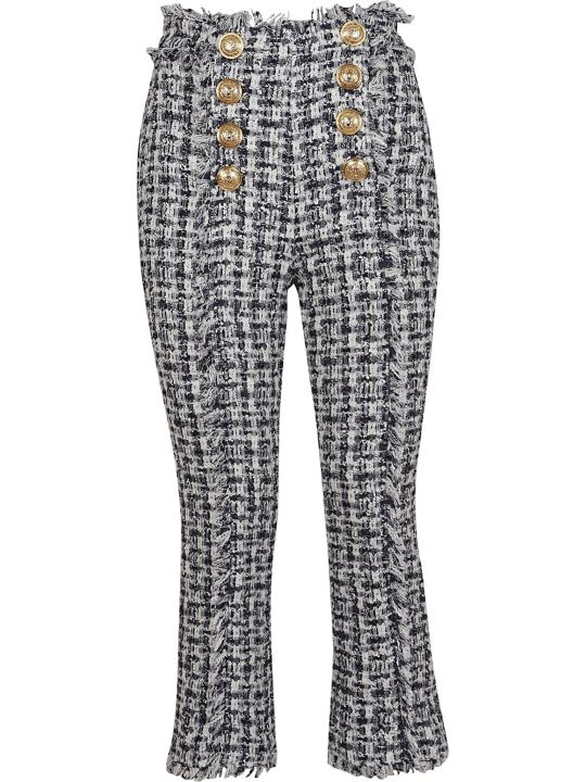 Balmain Flared Leg Cropped Trousers