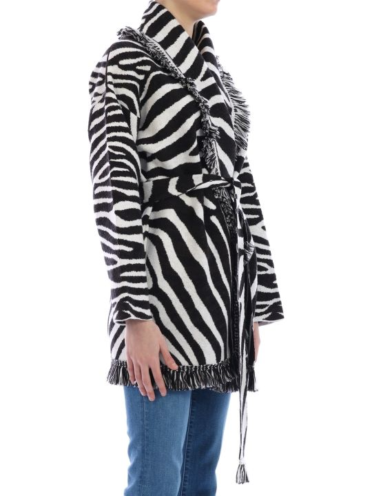 Alanui Over Zebra Cardigan