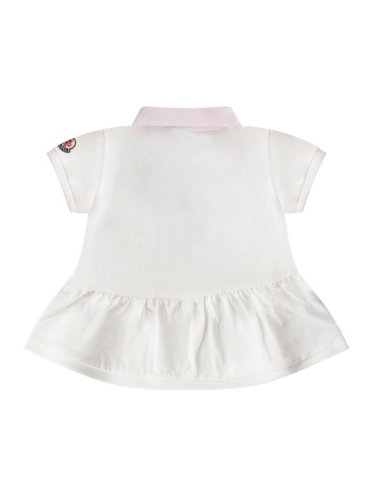 Moncler White And Lilac Babygirl Suit With Iconic Patch