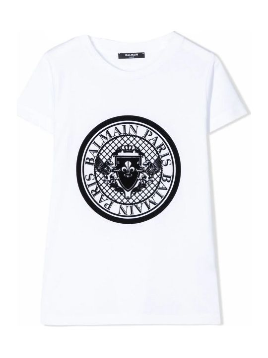 Balmain White Cotton T-shirt