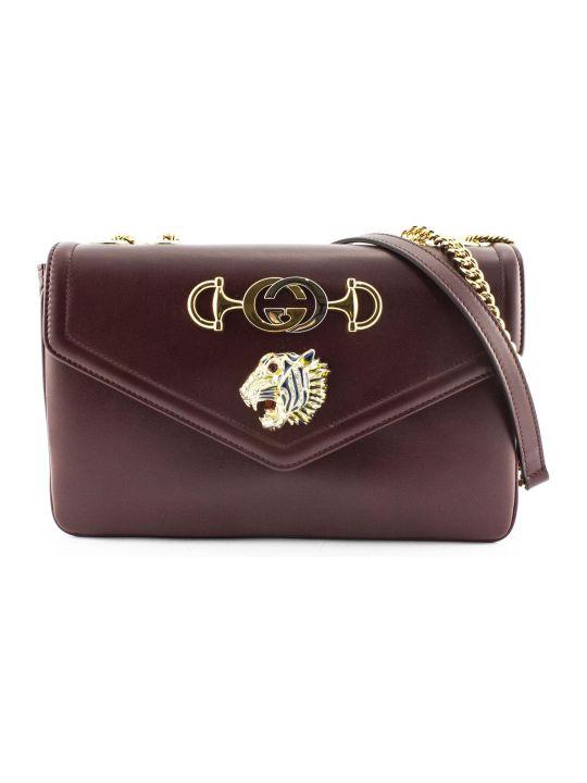 Gucci Shoulder Bag Rajah In Bordeaux Leather