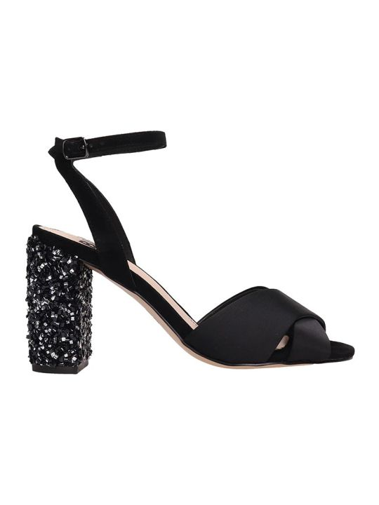 Bibi Lou Black Satin Sandals