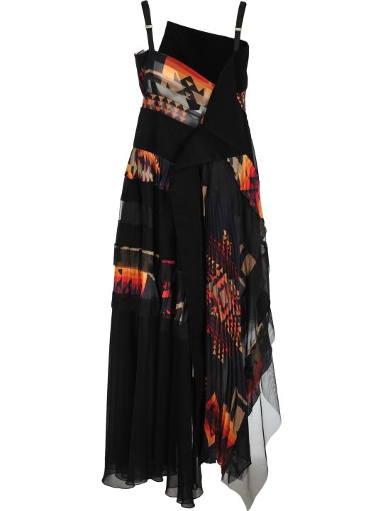 Sacai Sacai Pendleton Maxi Dress
