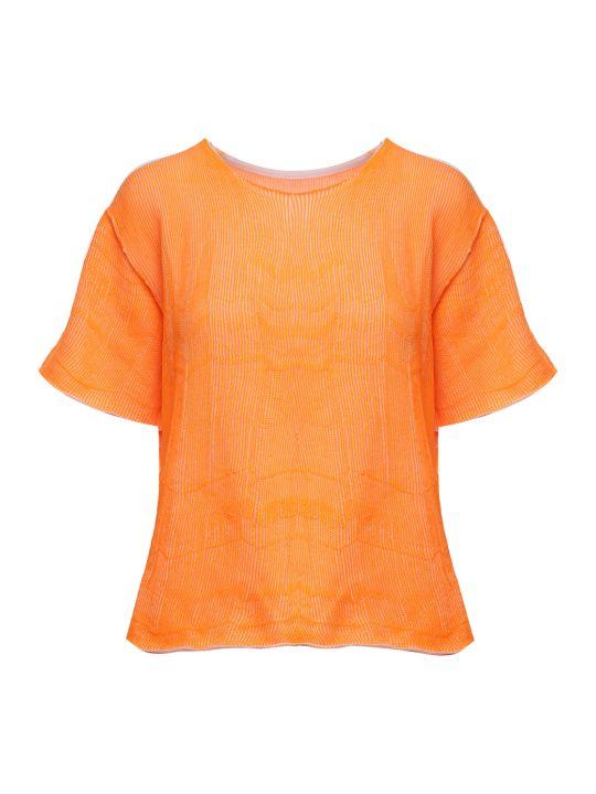 MM6 Maison Margiela Rib-knit Cotton-blend T-shirt
