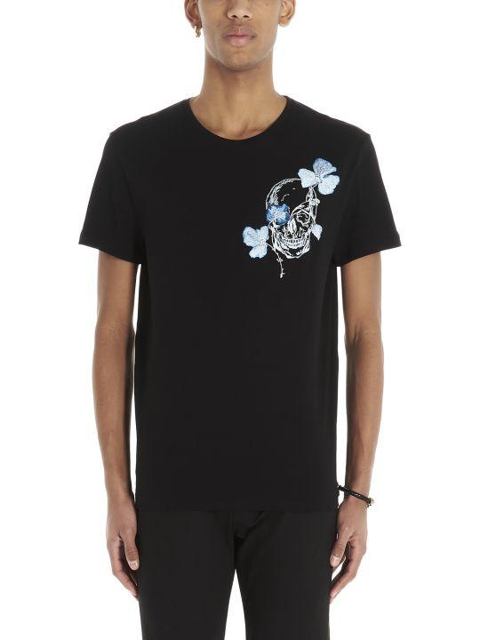 Alexander McQueen 'flower Skull' T-shirt