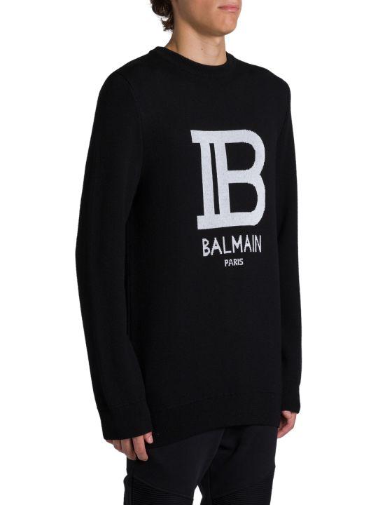 Balmain Pullover Con Logo Jacquard