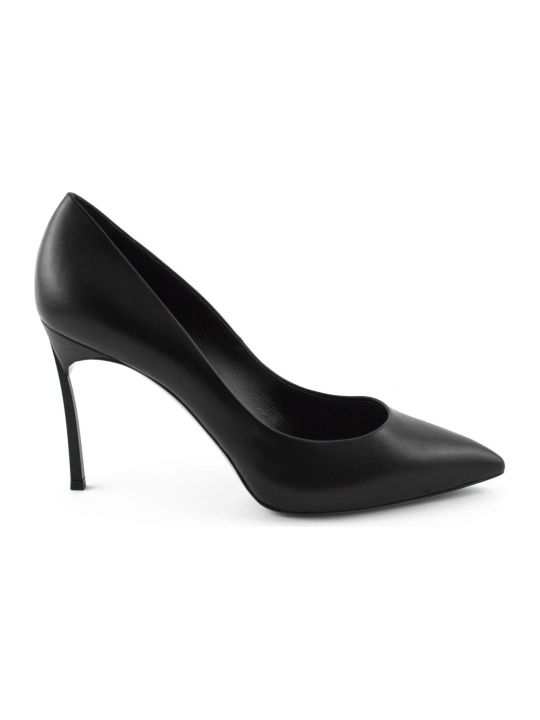 Casadei Black Leather Pump