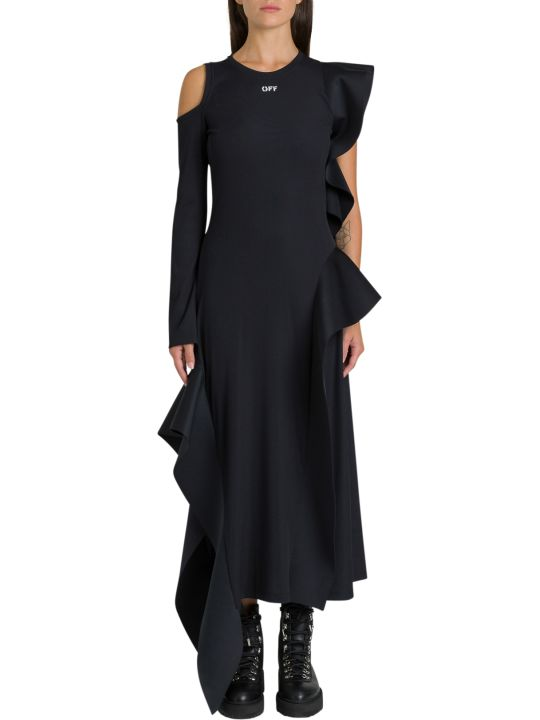 Off-White Deconstructed Off Logo Dress