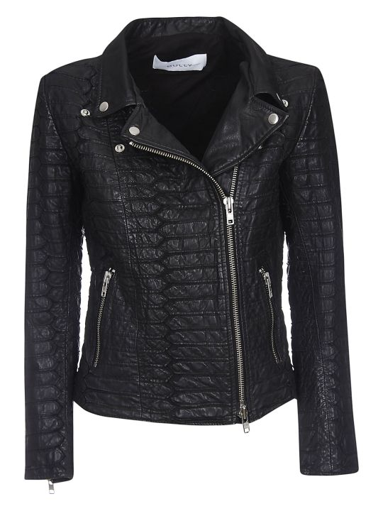 Bully Croco Zipped Leather Jacket