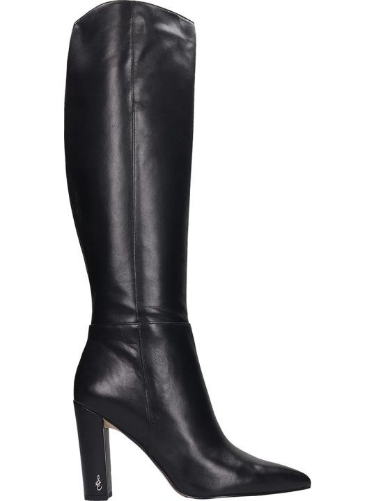 Sam Edelman Raakel High Heels Boots In Black Leather