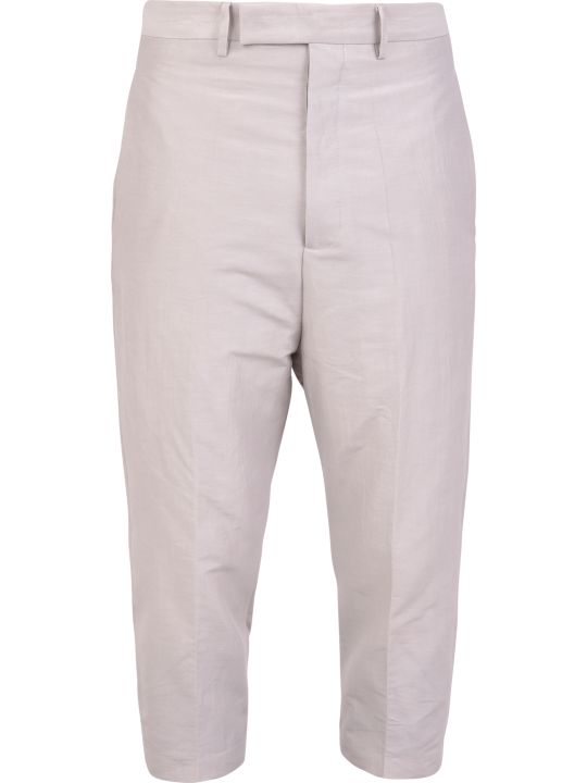 Rick Owens Cotton And Silk Trousers