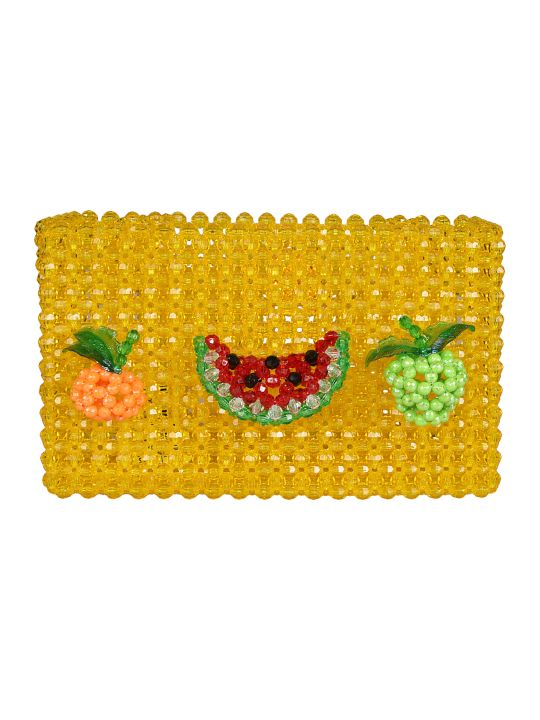 Susan Alexandra Fruits Beaded Tote