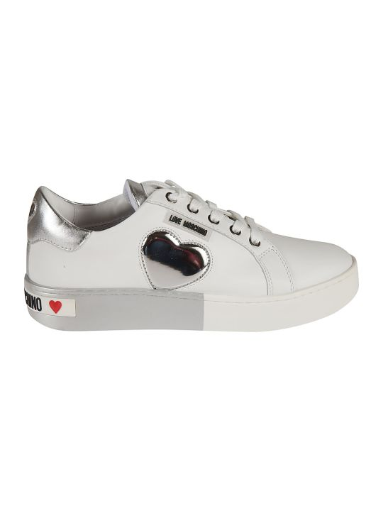 Love Moschino Metallic Heart Sneakers