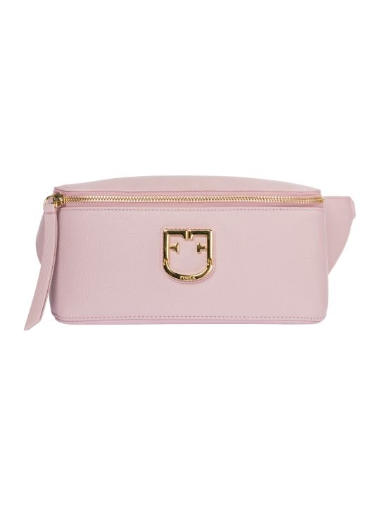 Furla  Leather Belt Bum Bag Hip Pouch Isola
