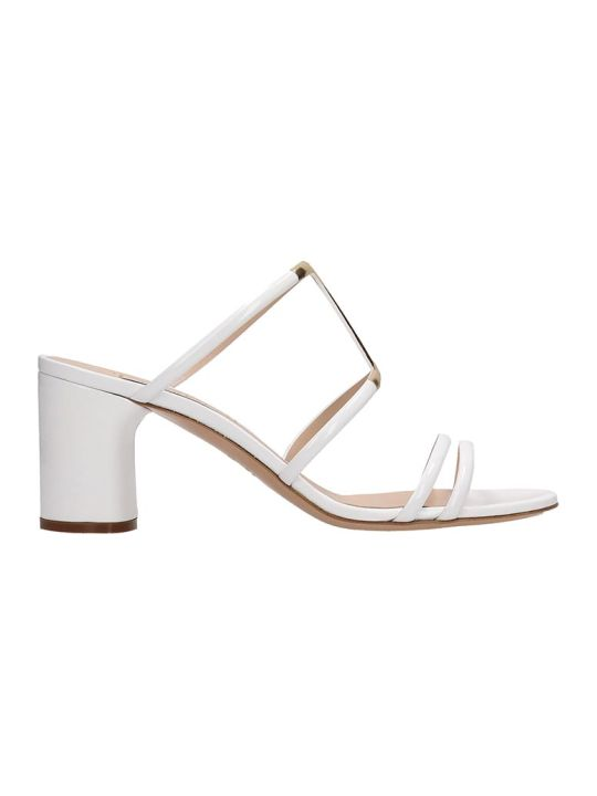 Casadei White Patent Leather Sandals H