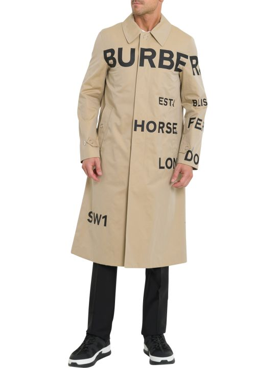 Burberry Lettering Printed Coat