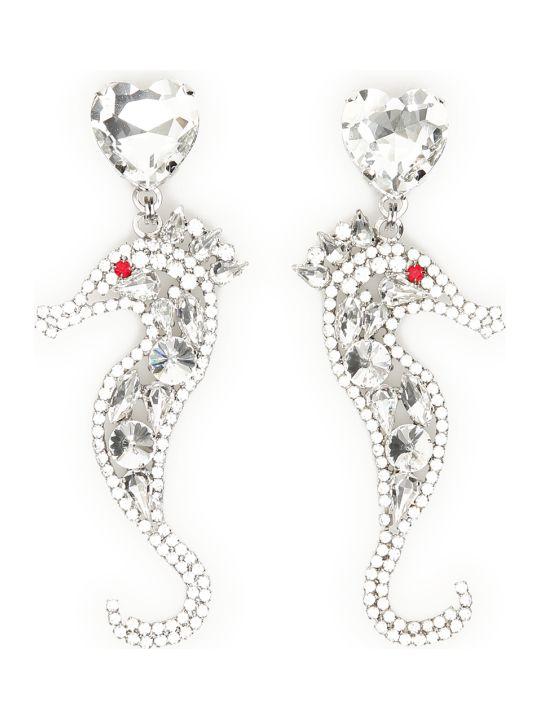 Alessandra Rich Crystal Seahorse Earrings