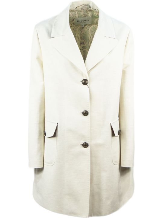 Etro Silk And Cotton Coat