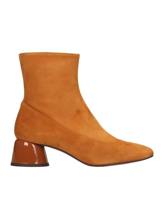 Castañer Leto Low Heels Ankle Boots In Leather Color Suede