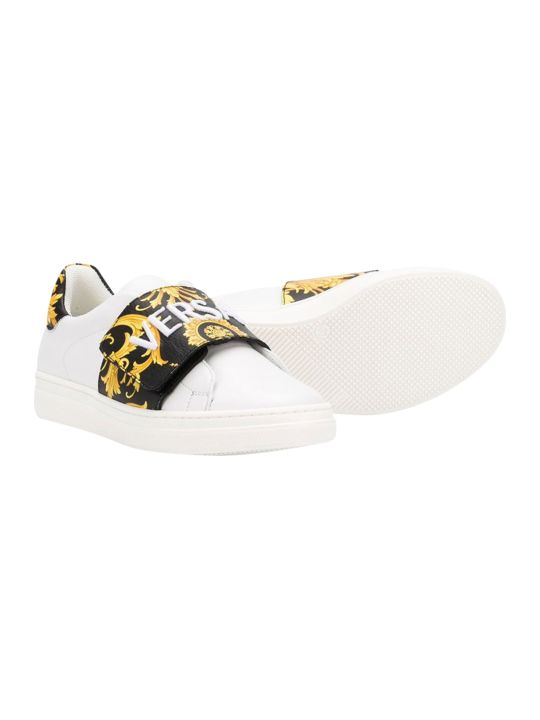 Young Versace Baroque Printed Sneakers
