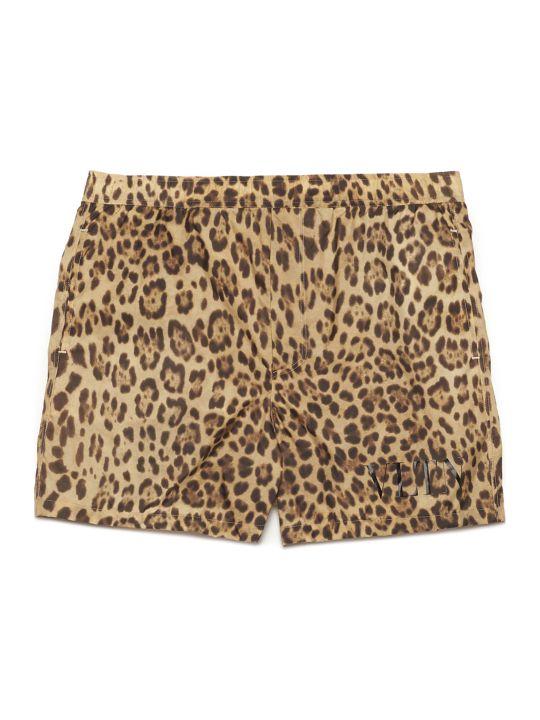 Valentino 'animalier' Beach Shorts