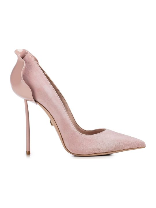 Le Silla Light Pink Suede Petalo 100 Pumps