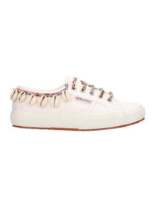 Superga Superga X Alanui Collaboration White Canvas Sneakers
