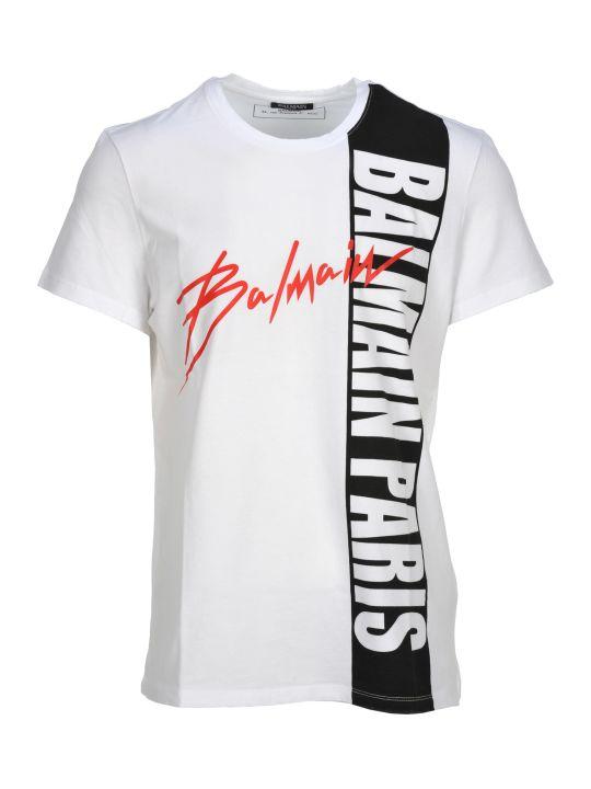 Balmain Tshirt Over Macro Logo