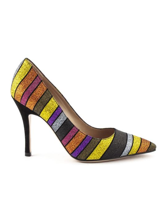 Roberto Festa Mania Pump In Multicolor Glitter