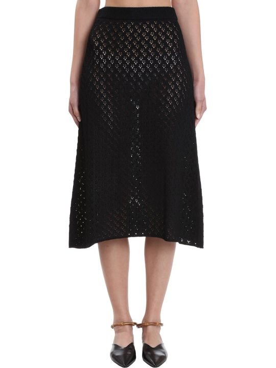 Jil Sander Skirt In Black Cotton