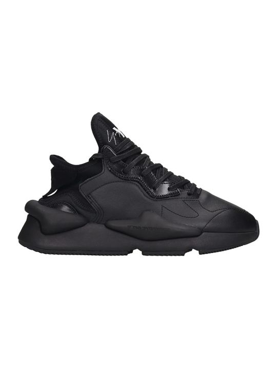 Y-3 Kaiwa Sneakers In Black Leather