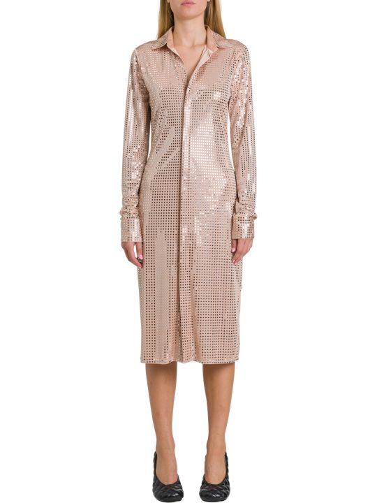 Bottega Veneta Dress In Embellished Satin Jersey