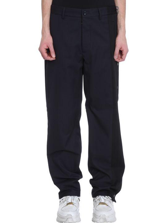 Maison Margiela Blue Polyester Pants