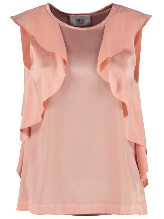 Jucca Ruffled Satin Blouse