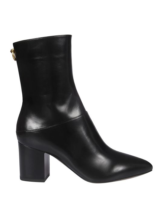 Valentino Side Zipped Ankle Boots