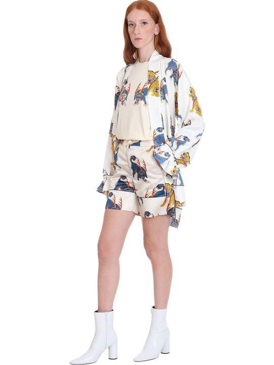 Kirin Shorts In White Satin