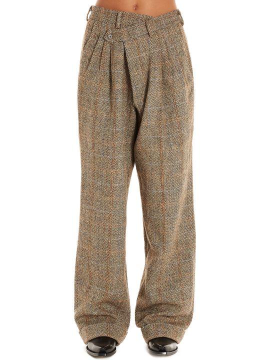 R13 'triple Pleat Crossover' Pants