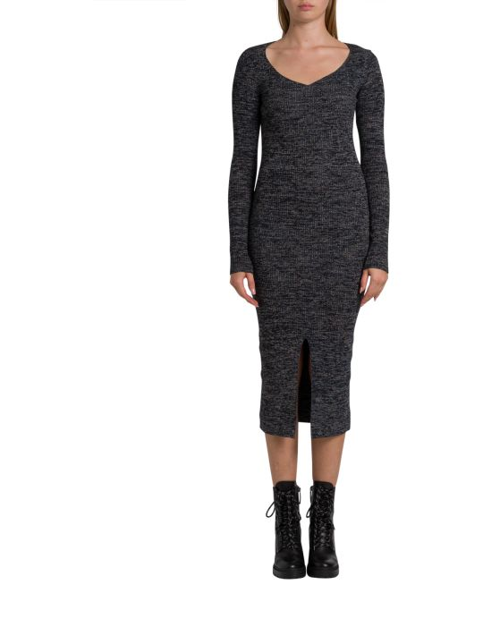 M Missoni Ribbed Knit Logn Dress