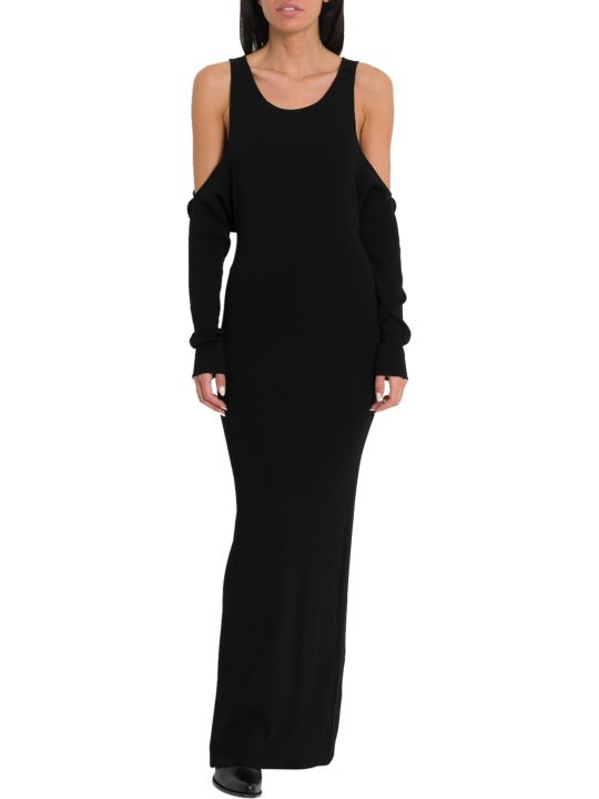Ben Taverniti Unravel Project Long Knit Dress With Cut Out Droppped Sleeves