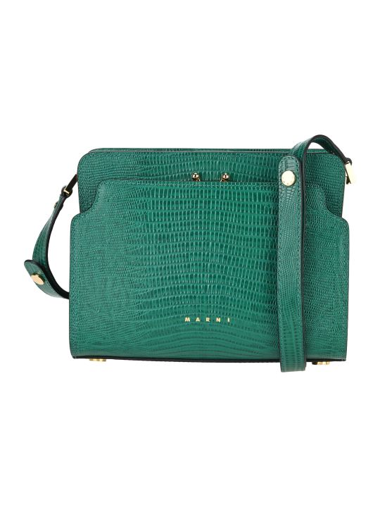 Marni Trunk Reverse Shoulder Bag In Lizard-print Calf-skin