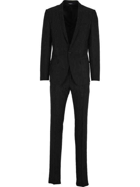 Dolce & Gabbana Dolce&gabbana Dolce & Gabbana Jacquard Martini Suit