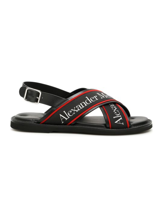 Alexander McQueen Logo Sandals